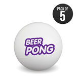 Pack of 5 Branded Beer Pong Balls